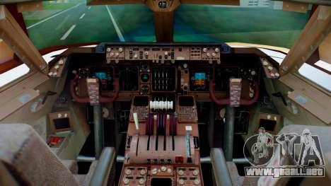 Boeing 747-400 Prototype (N401PW) para GTA San Andreas vista hacia atrás