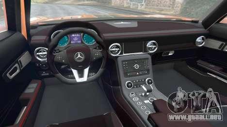 GTA 5 Mercedes-Benz SLS AMG GT3 vista lateral trasera derecha