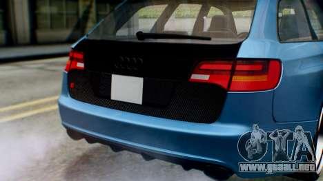 Audi RS6 Avant 2009 para visión interna GTA San Andreas