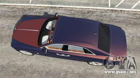 GTA 5 Rolls Royce Ghost 2014 v1.2 vista trasera