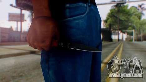 GTA 5 Bodyguard Switchblade para GTA San Andreas tercera pantalla