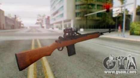 Arma2 M14 Sniper para GTA San Andreas segunda pantalla