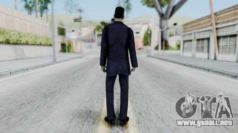 GMAN v2 from Half Life para GTA San Andreas tercera pantalla