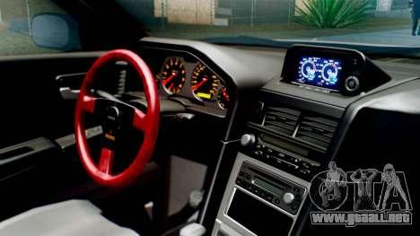 Nissan Skyline GT-R R34 RAID Spec para la visión correcta GTA San Andreas