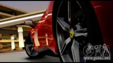Ferrari 488 GTB 2016 para GTA San Andreas vista hacia atrás
