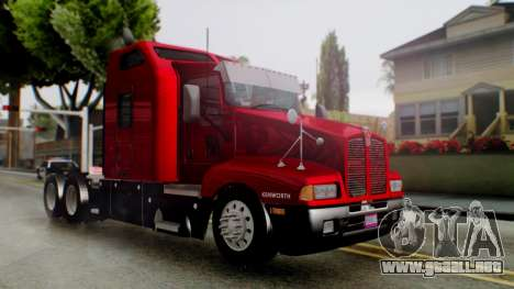Kenworth T600 Aerocab 72 Sleeper para GTA San Andreas left
