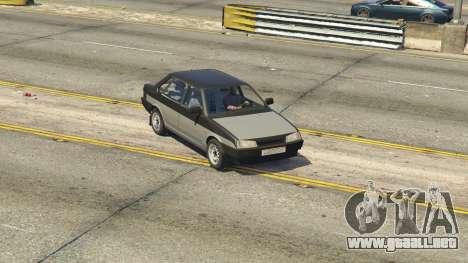 GTA 5 VAZ 21099 v3 vista lateral trasera derecha