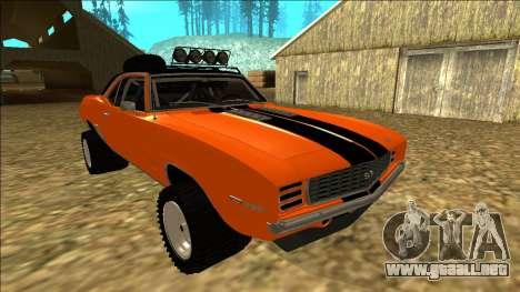 Chevrolet Camaro SS Rusty Rebel para GTA San Andreas interior