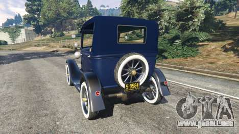GTA 5 Ford Model T 1927 [Tin Lizzie] vista lateral izquierda trasera