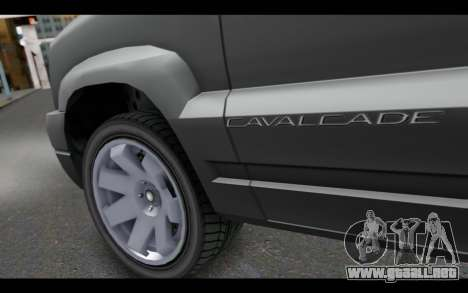 GTA 5 Albany Cavalcade IVF para GTA San Andreas vista posterior izquierda