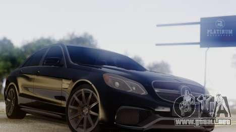 Mercedes-Benz E63 AMG PML Edition para la visión correcta GTA San Andreas