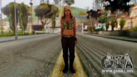 WWE Kaitlyn para GTA San Andreas segunda pantalla