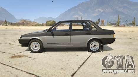 GTA 5 VAZ 21099 v3 vista lateral izquierda