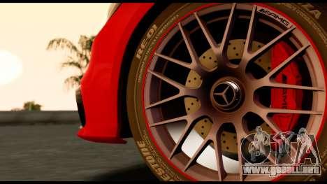 Mercedes-Benz CLS63 AMG 2015 para GTA San Andreas vista posterior izquierda