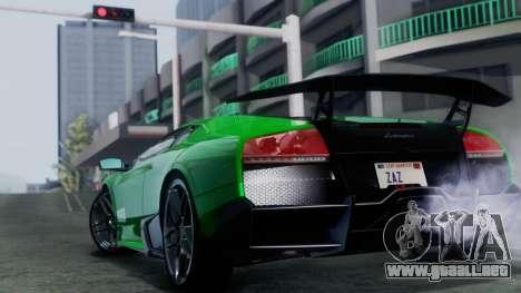 Lamborghini Murcielago LP670-4 SV 2010 para GTA San Andreas left