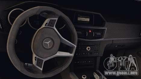 Mercedes-Benz E63 AMG PML Edition para visión interna GTA San Andreas