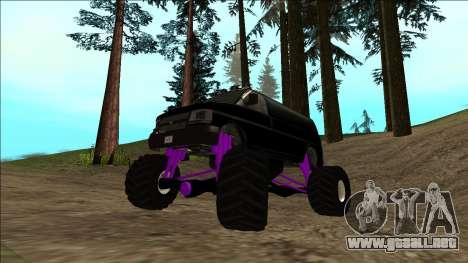 GTA 5 Vapid Speedo Monster Truck para vista inferior GTA San Andreas