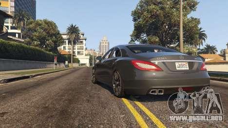 GTA 5 Mercedes-Benz CLS 63 AMG v.1.2 vista trasera