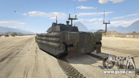 GTA 5 FV510 Warrior vista lateral izquierda trasera