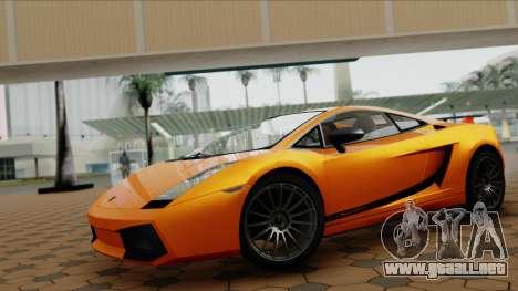 Lamborghini Gallardo Superleggera para la visión correcta GTA San Andreas