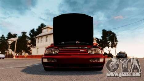Volkswagen Golf VR6 1998 DTD Tuned para GTA 4 visión correcta