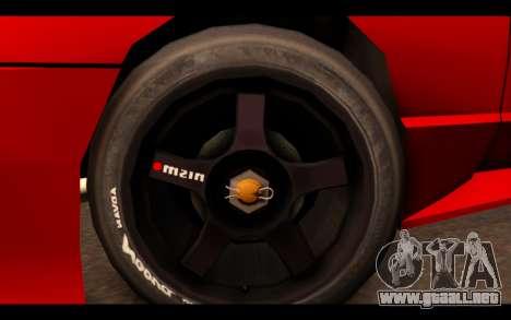 ElegyX para GTA San Andreas vista posterior izquierda