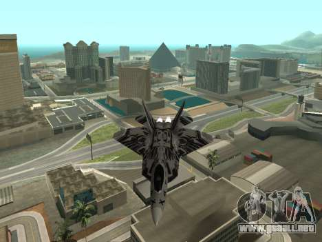 F-22 Raptor para GTA San Andreas vista posterior izquierda