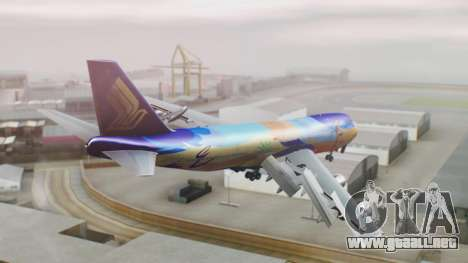 Boeing 747-400 Singapore Airlines Tropical PJ para GTA San Andreas left