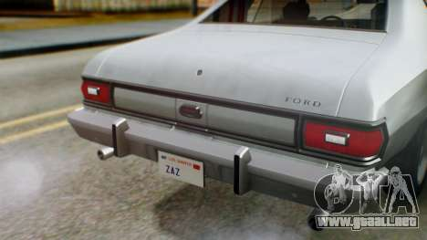 Ford Gran Torino 1974 IVF para la vista superior GTA San Andreas