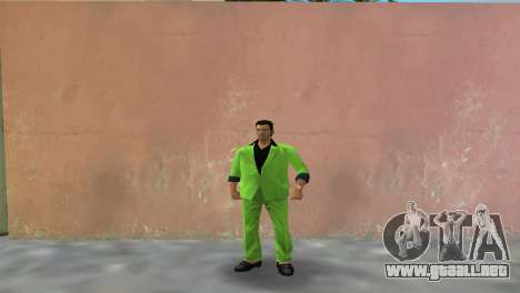 Verde traje para Tommy para GTA Vice City