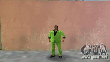 Verde traje para Tommy para GTA Vice City