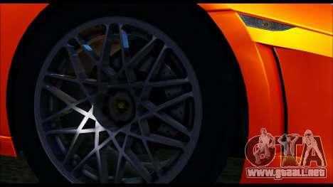 Lamborghini Gallardo LP560 PJ para GTA San Andreas vista posterior izquierda