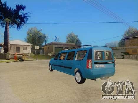 Lada Largus 7-door para la visión correcta GTA San Andreas