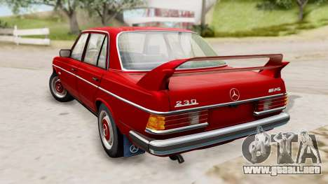 Mercedes-Benz 230E AMG 3.2 1982 Evolution Mod para GTA San Andreas left