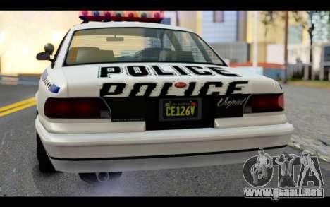 GTA 5 Curie IV White para GTA San Andreas vista hacia atrás