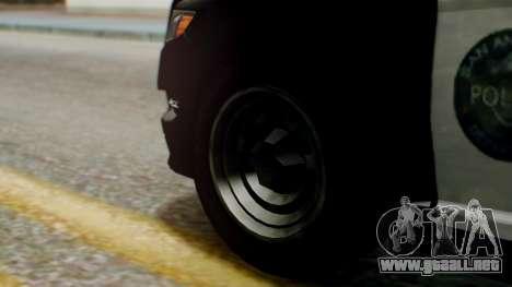 GTA 5 Police LS para GTA San Andreas vista posterior izquierda