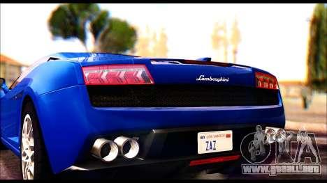 Lamborghini Gallardo LP560 para la visión correcta GTA San Andreas