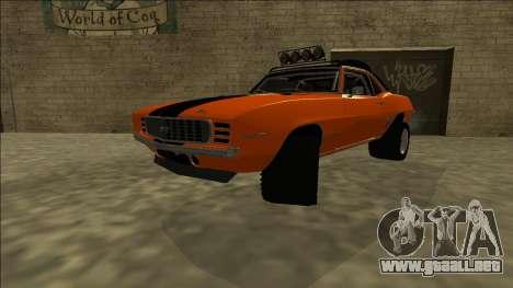 Chevrolet Camaro SS Rusty Rebel para GTA San Andreas vista posterior izquierda