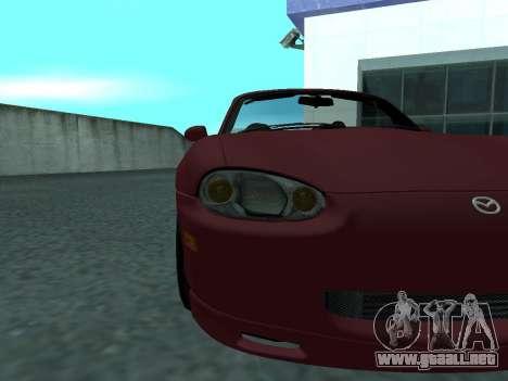 Mazda MX-5 para GTA San Andreas vista hacia atrás