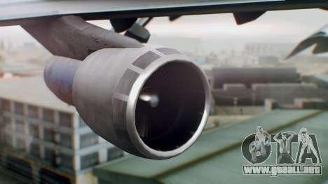 Boeing 747-400 Singapore Airlines Tropical PJ para la visión correcta GTA San Andreas