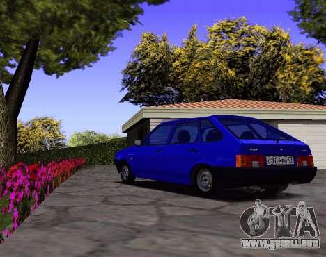 2109 KBR para GTA San Andreas vista posterior izquierda