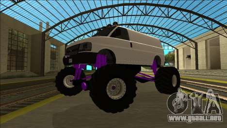 GTA 5 Vapid Speedo Monster Truck para GTA San Andreas vista hacia atrás