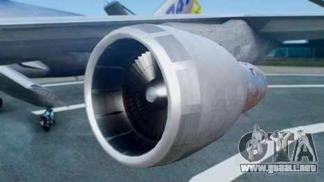 Boeing 747-400 Prototype (N401PW) para la visión correcta GTA San Andreas