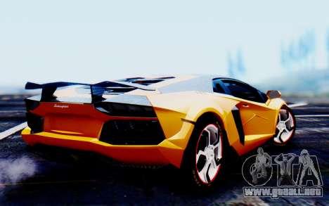 Lamborghini Aventador Mansory Carbonado Color para GTA San Andreas left
