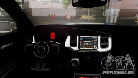 Dodge Charger SRT8 2015 Police Malaysia para la visión correcta GTA San Andreas