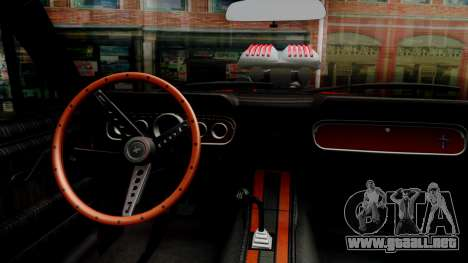 Ford Mustang 1966 Chrome Edition v2 Monster para visión interna GTA San Andreas