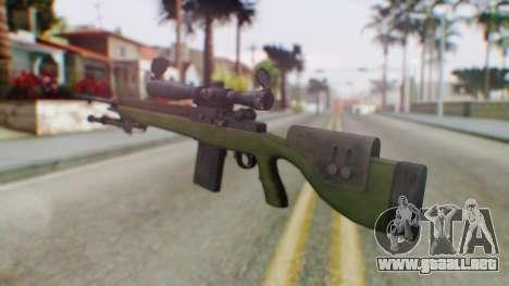 ARMA2 M14 Dmr Sniper para GTA San Andreas segunda pantalla