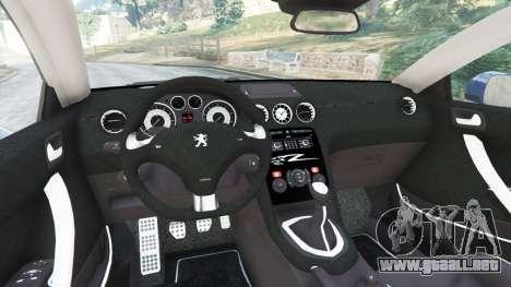 GTA 5 Peugeot RCZ vista lateral trasera derecha