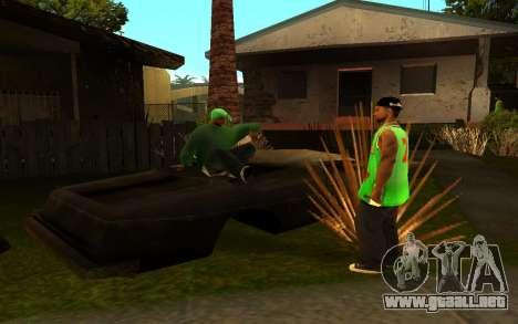 El avivamiento de la calle ganton para GTA San Andreas quinta pantalla