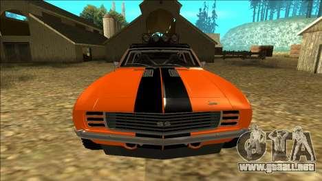 Chevrolet Camaro SS Rusty Rebel para vista inferior GTA San Andreas